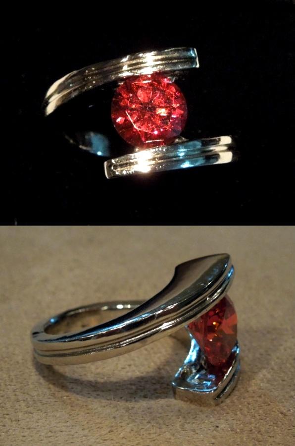 Labradorite Tension Set Ring