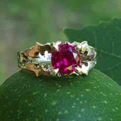 batman engagement ring gold