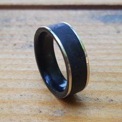 silver obsidian wedding band 1
