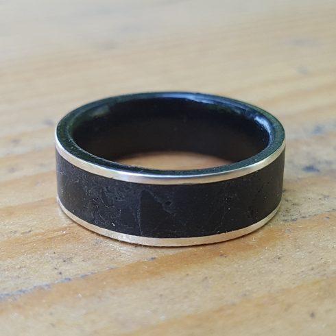 silver obsidian wedding band 2