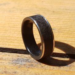 silver obsidian wedding band 3